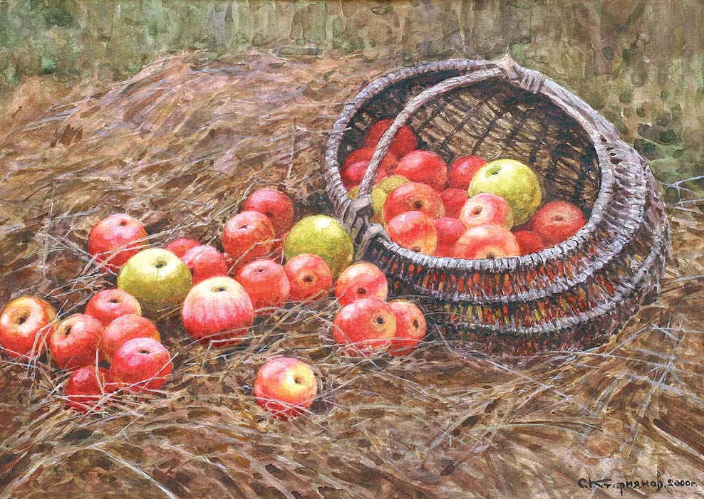 Apples on the Hay