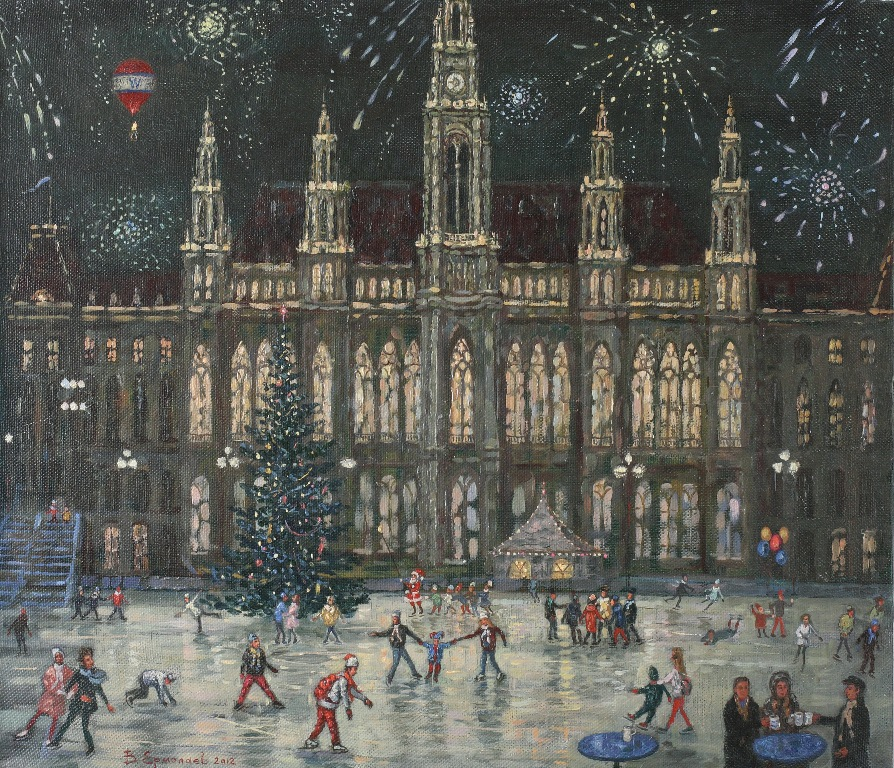 Skating-rink by the Town Hall