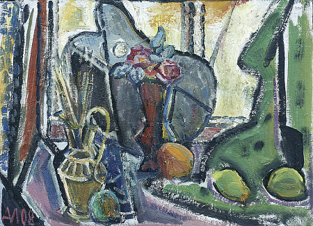 Still-life with palette