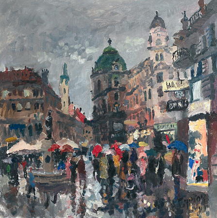 Rain on Stephansplatz. Vienna.