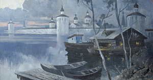 White Night on the Lake Siverskoye. Kirillo-Belozersky Monastery.